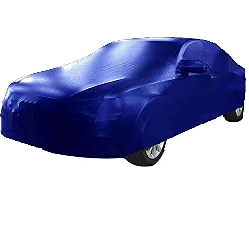 HTTSC Car-Cover Subaru XV Hybridauto Kleidung Lederimitat Pu Stoff Sonnenschutz Regen-Abdeckung Auto-Cloth Car Cover (Farbe : Blau)