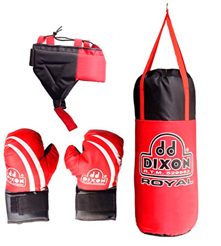 Toyshine Kids Polyester Boxing Kit with Gloves and Head Guard, Medium (23 Inches, Red) SSTP