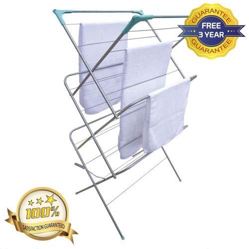 Concertina 3 Niveaux Vêtements Serviette Séchoir à linge Sèche-linge intérieur//extérieur pliant STEL