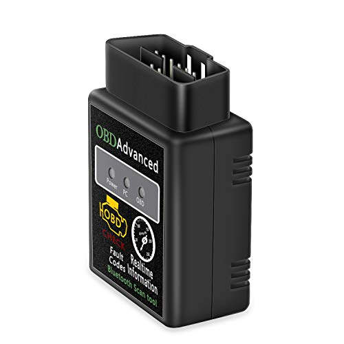 Friencity Bluetooth OBD2 Scanner Adapter, Wireless Diagnostic Code Reader & OBD II Scan Tool Read & Clear Check Car Engine Light, Compatible with Android Windows, Support Torque Lite, Car Scanner App