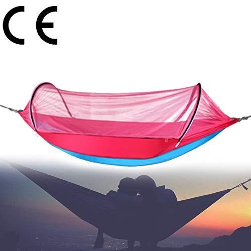 2 In 1 Grote Outdoor Nylon Klamboe Hangmat, Pop-up Lichtgewicht Boom Hangende Schommelstoel Voor Outdoor Camping Garden Travel 200 X 150 Cm