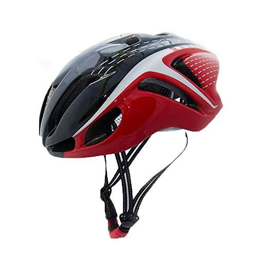 YCHCH Road Racing-helm voor dames en heren, van polycarbonaat, licht en ademend, 56 tot 62 cm