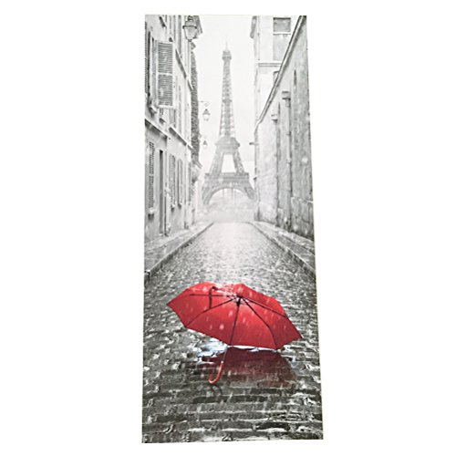 WINOMO Türtapete Tür Foto Tapete 3D Tür Aufkleber Eiffelturm Selbstklebend Wasserdicht 77x200 cm