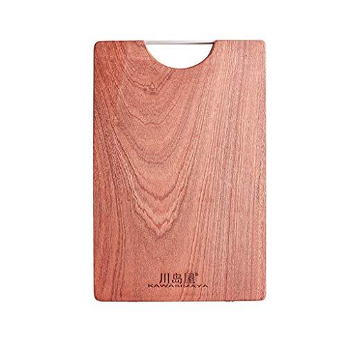 XHAEJ Tablero de tajado Conveniente Tabla de Cortar Tabla de Cortar Madera sólido Madera Madera y Panel Ware una Tabla de Cortar, (Size : 38 * 28cm)