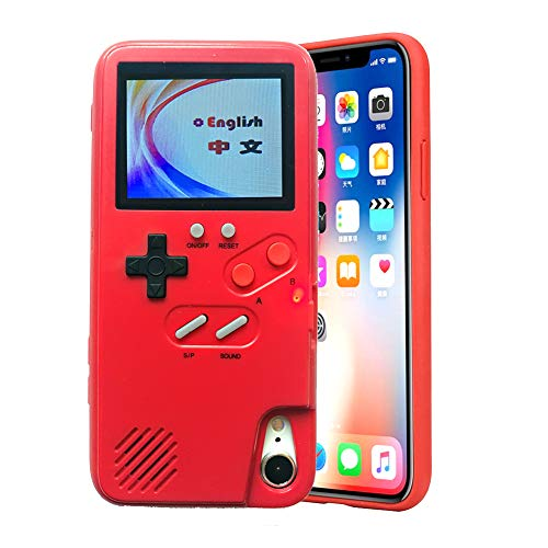 VOLMON Gameboy Case for iPhone Xs Max for Women, Game Console Case with 36 Built-in Games for iPhone Xs Max, Color Display Retro Game Case, Pretty Girl Case Funny for iPhone Xs Max, 6.5 Inch