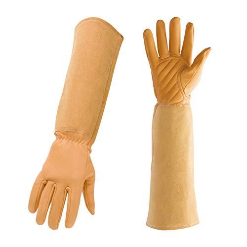 SASDA 1Pair Breathable Gloves Floral Print Faux Leather Garden Gloves for Women Non-Slip Cleaning Gloves Gardening Household Gloves,Brown