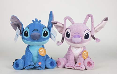 Disney Stitch & Angel XXL Set MIT Orginal Sound AUS DEN FILMEN 51 cm PLÜSCH Plush Peluche Soft Toy