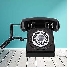 Sponsored Ad - ANGGREK Rotary Design Retro Landline Phone, Vintage Old Fashioned Landline Phone Telephone Desk Phone for H...