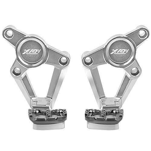 XADV Reposapiés Plegables CNC Aluminio Estriberas Traseras para Honda X ADV X-ADV...