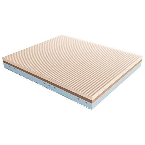 Baldiflex Materassimemory.eu - Colchón individual ondulado con memoria de 3 capas, 80 x 190 cm, altura 22 cm, funda extraíble con cremallera Silver Safe