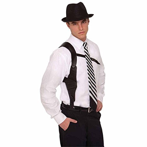 Amscan Boys Adult Roaring '20s Costume Party Gun Holster (1 Piece), Black, One Size