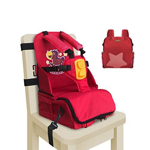 CAO-LIFE Sac À Bandoulière pour Maman (6-36 Mois), Ceinture De Sécurité, Chaise Haute, Sac À Langer Pliable, Grande Capacité, Sac De Rangement Extérieur pour Bébé (Couleur : Rouge)