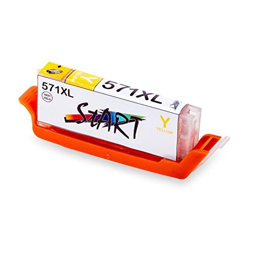 Start - XL Compatible Chip Cartuccia per Canon CLI-571 Y XL Giallo