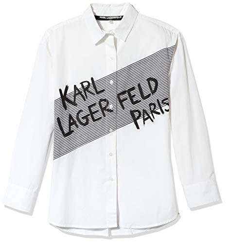 Karl Lagerfeld Paris Damen Karl Striped Blouse Button Down Hemd, Weich, XX-Small