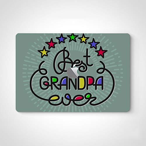 "Laptop Skin Sticker Decals Funny Best Grandpa Ever Handwritten Lettering Grandparents Decal Stickers Laptop for MacBook Air 13"" Pro 13""/15""/16"" 2008-2020 Version Laptop Keyboard Decal Sticker"