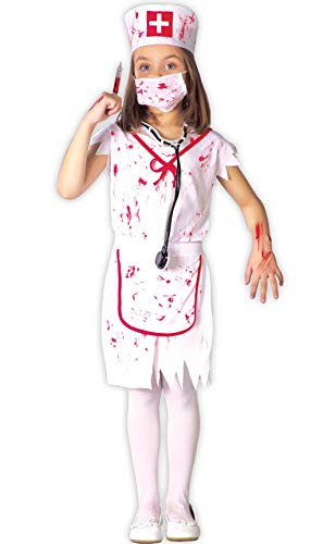 Guirca Disfraz de Enfermera Zombie para nia S2-(4/5 aos)