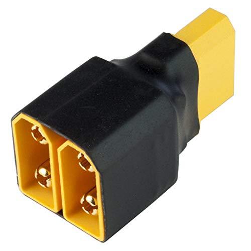 LiuliuBull L Conector Parallel Series 1 Male a 2 Adaptador de Conector de Enchufe de 2 Mujeres para Cargador de batería (Color : Parallel(1 Male 2 Female))