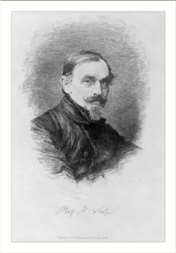 Historic Print (L): [Rudolph Hermann Lotze, 1817-1881, bust portrait]