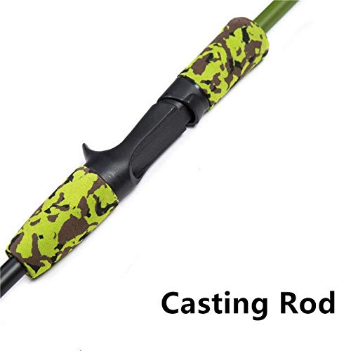 DPZCBH Angeln Rute Tragbare 1.8M 3.4-20g Lure Test-Carbon-Faser-Reise Carp Baitcasting Spinning Angelruten Fishing Rod (Color : Black, Length : 1.8 m)