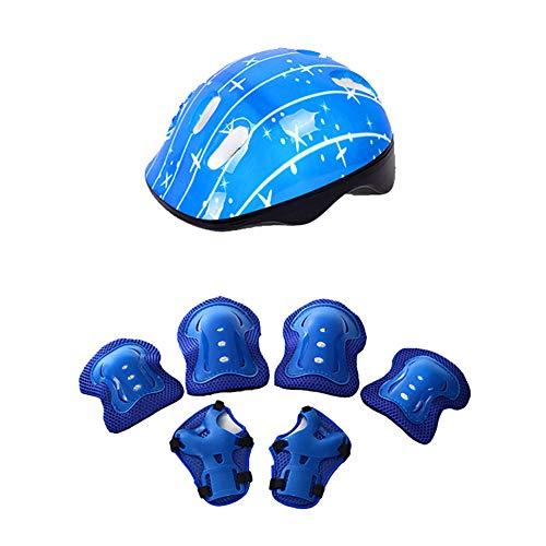 0Miaxudh Conjunto de protección para Patinaje, Casco de Bicicleta al Aire Libre Rótula Protector para la muñeca Codo Soporte para patineta