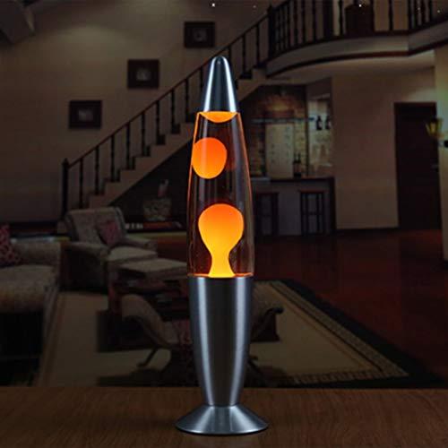 Nette Metallbasis Lava Lampe Wachs Vulkan Stil Nachtlicht Quallen Nachtlicht (Orange Farbe EU)
