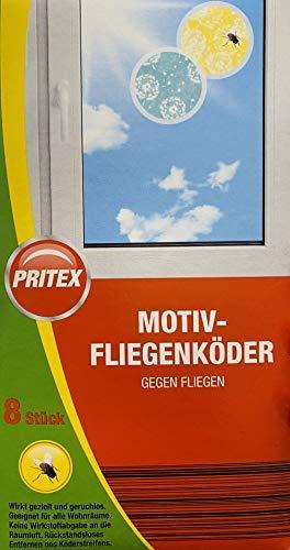 PRITEX Motiv Fliegenköder / 8 Stück / 2 Verschiedene Motive