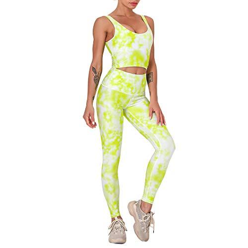 WOERD Yoga Conjunto De Mujer, Deportivo Top Sujetador Y Leggings Gimnasio Ropa Chándal Yoga Sportwear Outfits para Gym Running Pilates Fitness Workout