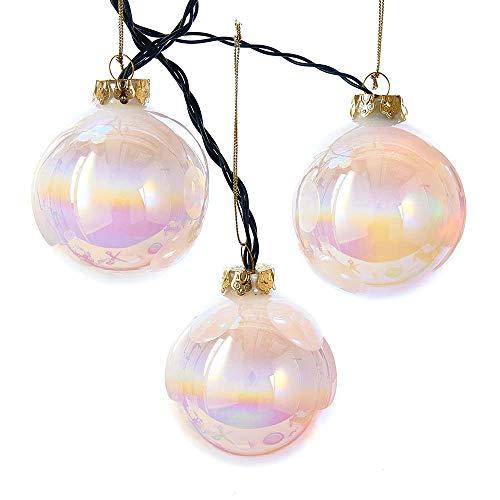 Kurt Adler UL1911 80MM LED Glass Ball Light Set, 6 Light