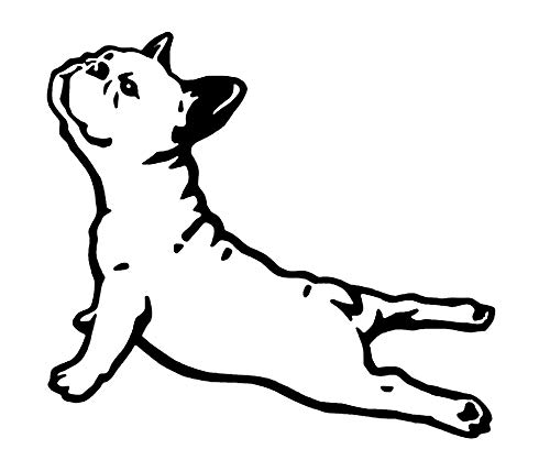 French Bulldog Decal Vinyl Sticker|Cars Trucks Vans Walls Laptop|Black |5.5 x 5.0 in|DUC1972