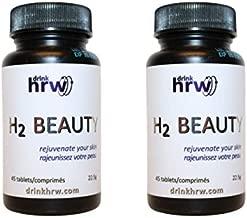 DrinkHRW H2 Beauty Topical Molecular Hydrogen Tablets, 2 Bottles, 90 Total Dissolvable Tablets …