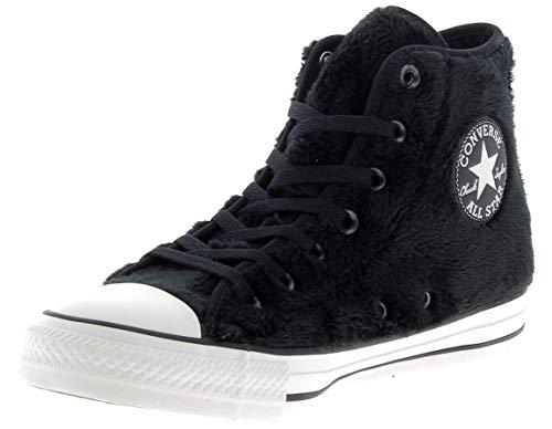 Sneakers Donna CONVERSE ct as hi faux fur pelo alta bianco nero pelo, Nuova collezione autunno inverno 2017/2018