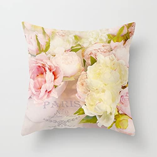MissW Funda De Almohada Abrazadora Estampada con Flor De Rosa Americana, Funda De Almohada con Cojín para La Cabeza del Sofá Cama Sin Núcleo De Poliéster