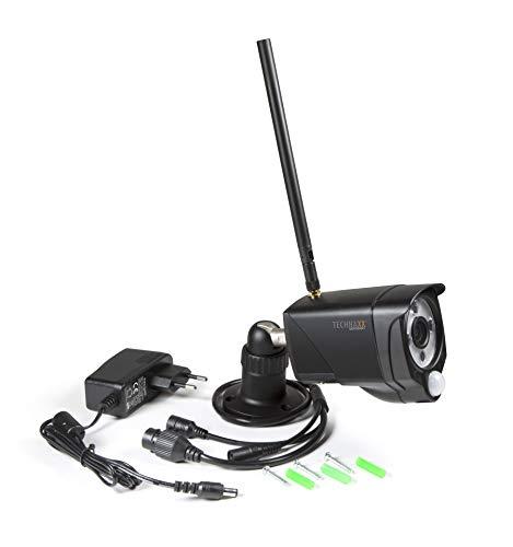 Technaxx WiFi IP Outdoor Camera TX-145 - Vieokamera. FullHD 1920x1080, PIR-Sensor 120, Horizontal 90° & Vertical 55°, WiFi 2.4GHz , 3 IR LED (850nm), IP 66, MicroSD, Einbruch, Sicherheit, Alarm, Push