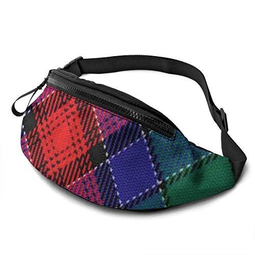 OPLKJ Scots Style Clan macdiarmid Tartan Plaid Adjustable Fanny Running Waist Pack Bag