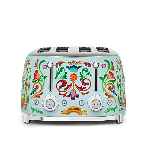"Dolce and Gabbana x Smeg TSF03DGUS 4 Slice Toaster,""Sicily Is My Love,"" Collection"