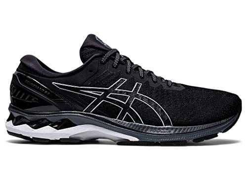 ASICS Men's Gel-Kayano 27 Running Shoes, 11M, Black/Pure Silver
