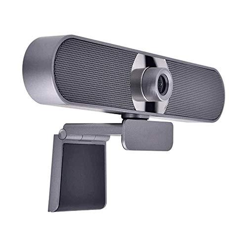 Yibokang HD WebCam, Laptop de escritorio de la cámara web de 1080p, PLANTE USB y reproducción for la conferencia de clase en vivo Cámara de video giratoria de la cámara de escritorio de la cámara de e