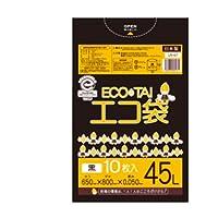 サンキョウプラテック エコ袋 45L 0.050厚 黒 10枚入×40冊 LN-67