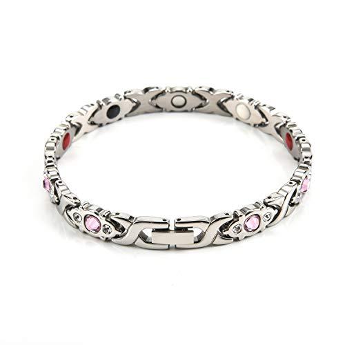 Edelstahl Armband, Titan Stahl Fashion Armband, Damen Armband, Micro-Set Diamant Magnet Armband, Trend Galvanik Armband