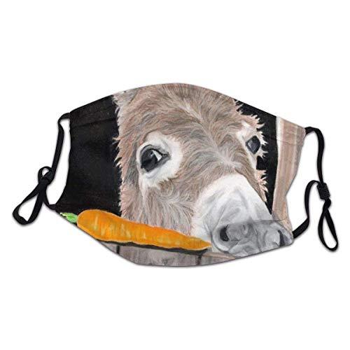 Mundschutz, Esel am Fenster liegend Gesichtsschutz, schöne Gesichtsabdeckungen