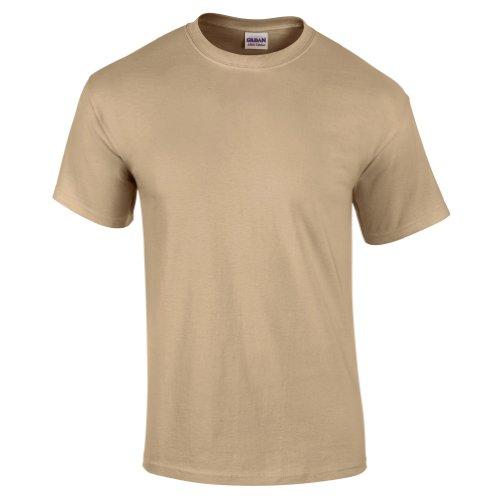 Gildan - Camiseta básica de manga corta de verano para hombre- 61 colores diferentes ? Número 1 en América (Grande (L)/Marrón tostado)