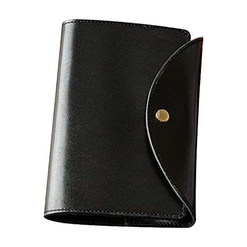 [アム デ マス] パスポートケース 栃木レザー コンパクト 本革 レザー 日本製 シンプル 旅行 カードポケット PC-031 ブラック