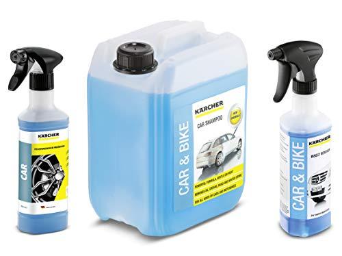 Kärcher 6.296-048.0 Felgenreiniger Premium RM 667 + Kärcher Insektenentferner 3-in1 Rm 618 6.295-761.0 + Kärcher Autoshampoo 3-in-1 RM 610 5 liter 6.295-360.0 (Inkl. 5 liter Autoshampoo)