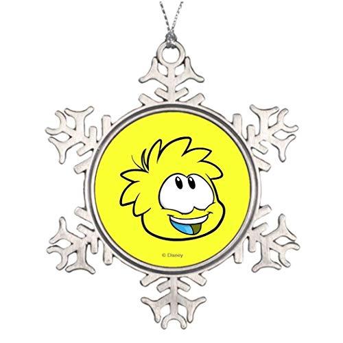 Cukudy gele puzzel aangepaste kerst Puffel decoratieve Kerstmis Sneeuwvlok Ornament voor kerstboom