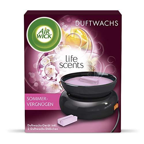 Air Wick Duftwachs Starter-Set – Duft: Sommervergnügen – 1 x Elektrisches Duftwachs-Gerät in schwarz, inklusive 2 x Duftwachsstäbchen