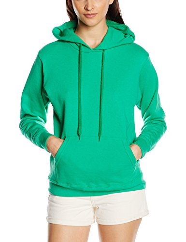 Fruit of the Loom SS068M Capucha, Verde (Kelly), 42 (Talla del Fabricante: Large) para Mujer