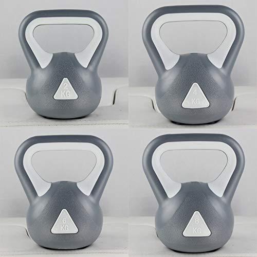 XER Fitness Vinyl Kettle Einstellbare Hantel Yoga Pilates Massage für Bodybuilding Gewichtheben für Heim und Gym Fitness-Training,6KG