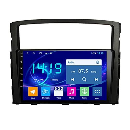 Android 10.0 9 Pulgadas Radio Satelital Para Automóvil Reproductor Multimedia Autoradio Navegador GPS Para Mitsubishi Pajero 2006-2016 Soporte WiFi Bluetooth/Control Del Volante(Color:WIFI 4G+64G)