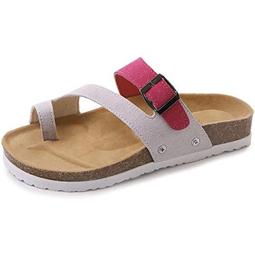 CYQ Verano Mujer Sandalias Bone Valgus Corrector Zapatillas Juanetes Sandalias ortopédicas Punta Abierta Zapato Antideslizante con Soporte de Arco para aliviar los síntomas del Dolor