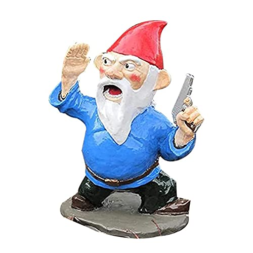 Duyifan Garden War Gnome Army, Halloween Gnomes Decor Statue Outdoor Statue, Funny Garden Gnome Family, Resin Desktop Lawn Ornament, Great Gift For Children, Brother, Friend or Boyfriend (Type A)